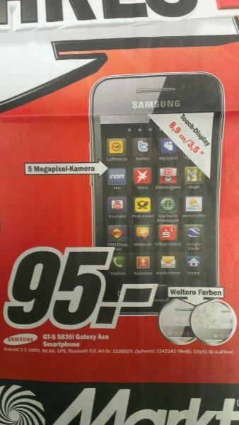 SAMSUNG S5830i GALAXY ACE 95 Euro / Mediamarkt Hamburg