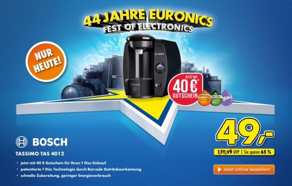 Euronics - Bosch Tassimo TAS4012 für 49€ + 40€ Gutschein + ggf Versand - NUR HEUTE -