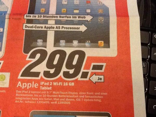 Apple iPad 2 16GB WiFi @MediaMarkt Bochum und Castrop