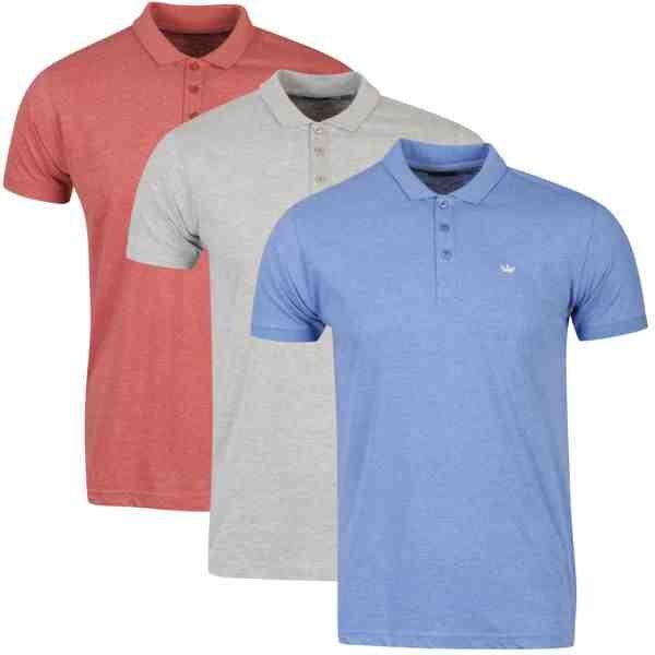 Brave Soul Men's Clio 3-Pack Polo Shirts @ ZAVVI nur 15,85 Euro inkl. Versand