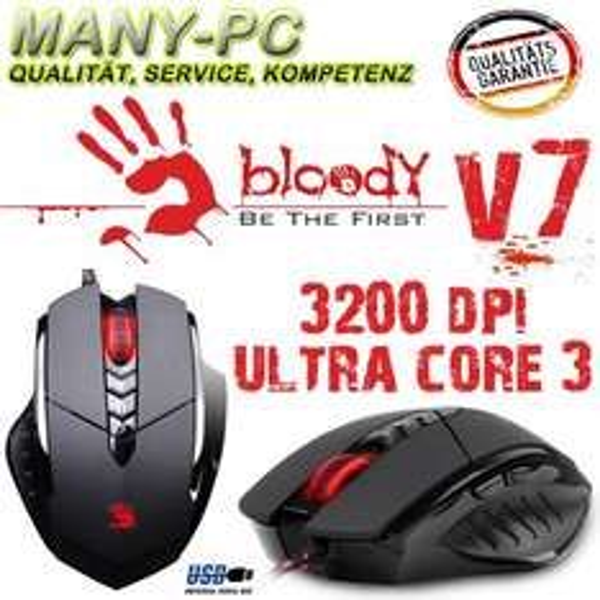 A4Tech Bloody V7 USB 7 Tasten Gamer Maus 3200 Dpi Top Angebot bei Ebay