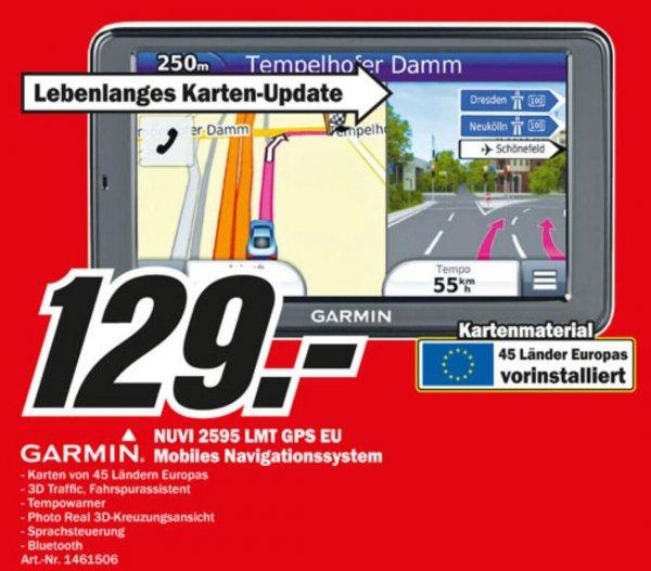 (Lokal Bremen MM) GARMIN nüvi 2595 LMT (45 Länder inkl. lebenslanger Karten-Updates) 129,-€