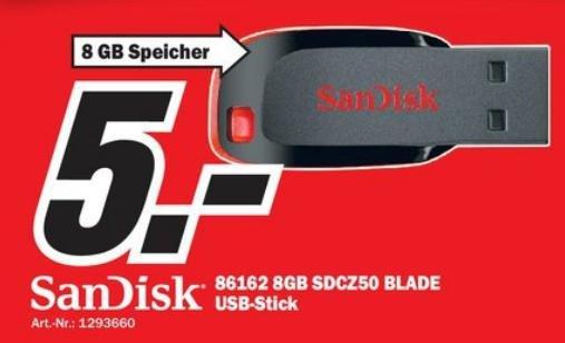 SanDisk USB-Stick auf 5€ reduziert (lokal)