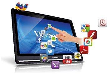 """21,5""""  Dektop PC  (Big-Tablet)  All-in-One PC mit Android 4. auch als TouchScrenn für Windows7"""