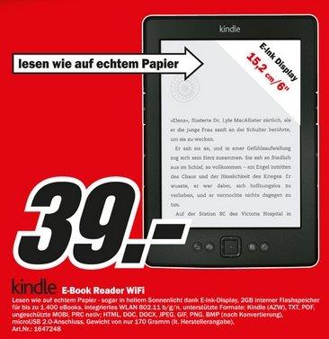LOKAL Großraum Stuttgart Media Märkte / Kindle 4 (6 Zoll) E-Book-Reader