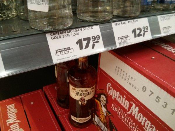 [Real Hannover Altwarmbüchen] Captain Morgan 1,5 Liter Flasche (Preisfehler?)