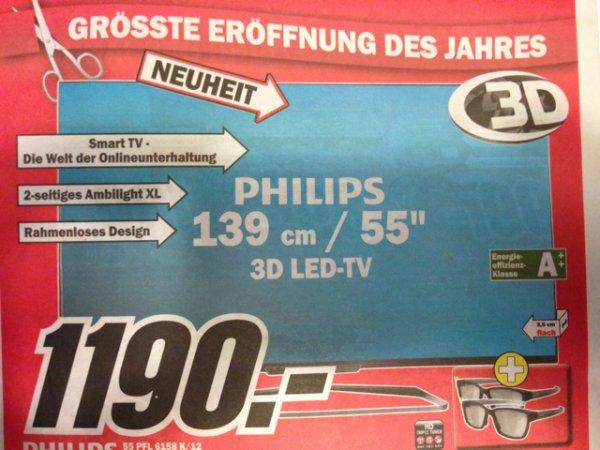 Philips 55 PFL 6158 K/12 3D LED TV