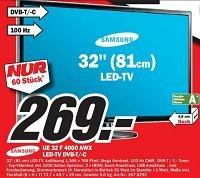 """Samsung LED-TV 32"""" auf 269€ reduziert"""
