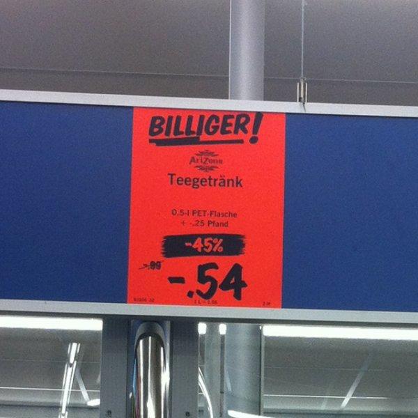 Arizona Eistee 0,5l für nur 0,54€ Lidl Ilmenau [lokal]