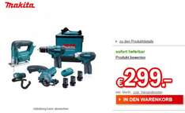 Redcoon Makita Set DK1474X1 Geräte:5 / Akku:3