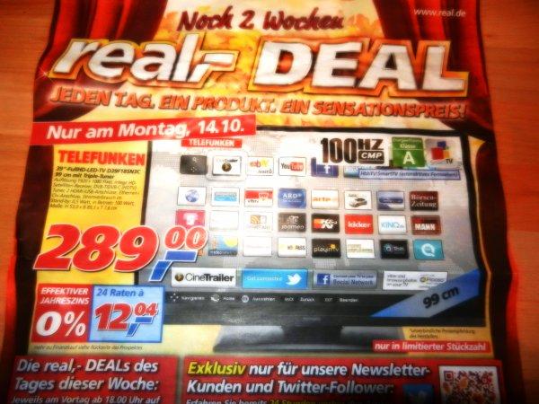 """39""""-FullHD-LED-TV D39F185N3C am Montag als Deal des Tages bei Real im Markt nur 289,-€"""