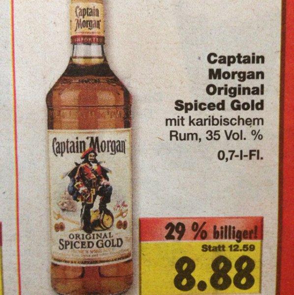 [Kaufland] Captain Morgan für 8,88€ statt 12,59€
