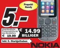 [Lokal] O2 O Prepaidhandy Nokia 100 Anthrazit für effektiv 0€. (5€ inkl. 5€ Startguthaben) im MM Ludwigshafen