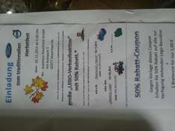 [Lokal Hoyerswerda] 50% Rabatt auf Lego am 02.11.2013 beim Autohaus Kieschnick