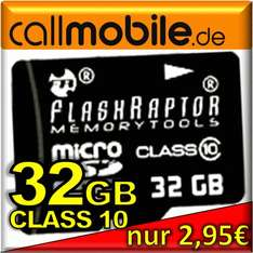 callmobile SIM-Karte + 32 GB FlashRaptor UHS für 2,95€