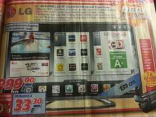 "LG 55"" 3D-FullHD-LED-TV 55LA6418 139cm + 3D camcorder DXG ICG-330 für 999€ bei real 14.10-19.10.2013"