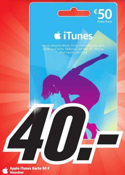 [Lokal] Apple iTunes Karte im Wert von 50€ für 40€ in MM Emden