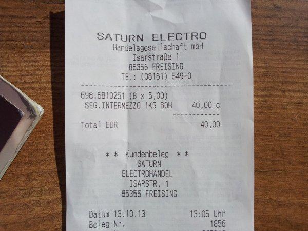 [Saturn Freising nur heute] Segafredo Intermezzo 1Kg für 5Euro