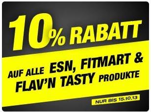 10% Rabatt auf ESN, Fitmart & Flav'n Tasty!