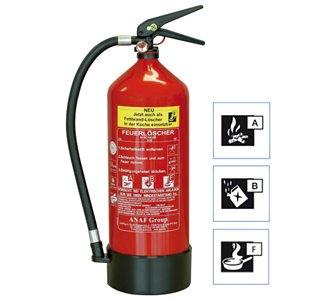 Nur noch heute (16.10.)! [plus.de] ABF Schaum-Feuerlöscher GEV FLS 3460 6 Liter  für 50,95 €