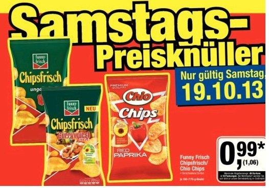Metro - Funny Frisch Chipsfrisch/Chio Chips - nur am Sam. 19.10.13 - 1,06€