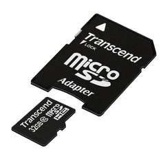 Transcend Class 10 Extreme-Speed microSDHC 32GB Speicherkarte mit SD-Adapter