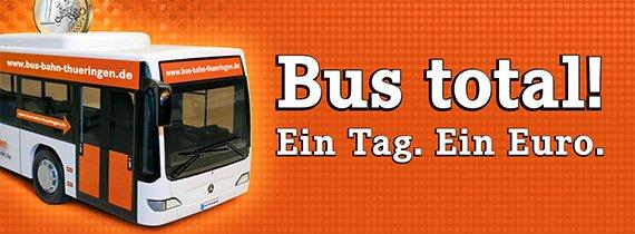 Thüringen/Oberfranken: Tageskarte BUS am 24.10.13 für 1,00 Euro