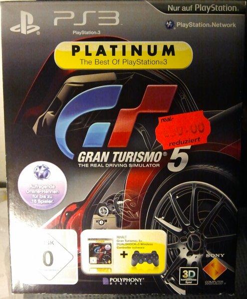 [Lokal Würzburg] Real - Playstation 3 - Gran Turismo 5 (Platinum) + Dual Shock 3 Wireless Controller (schwarz)