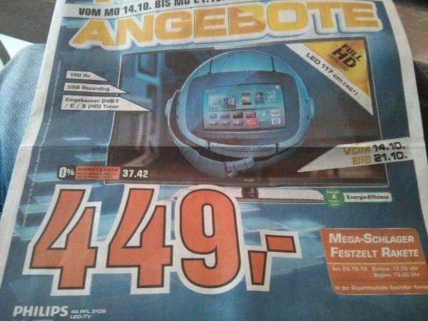 Phillips 46zoll smart tv 100Hz trible tuner 46PFL3108 nur lokal?