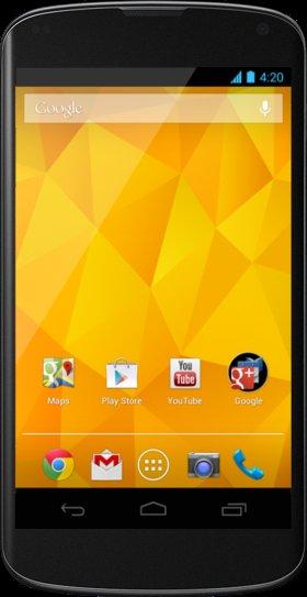 Google Nexus 4 16GB und MD O2 Allnet 500MB für €25,36 / Monat