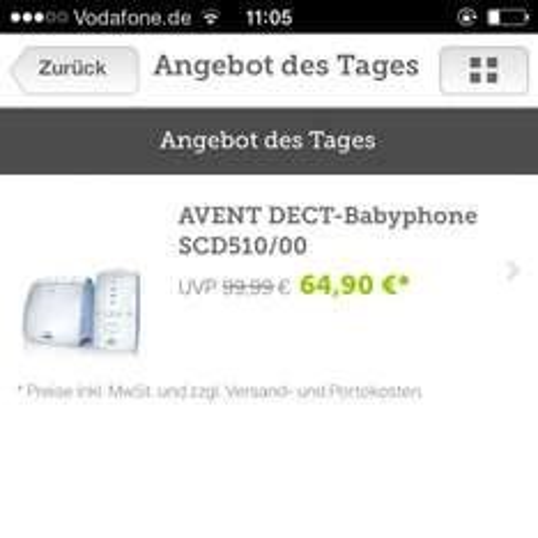 Avent Babyphone ! nur heute! Bei Brands 4 Friends
