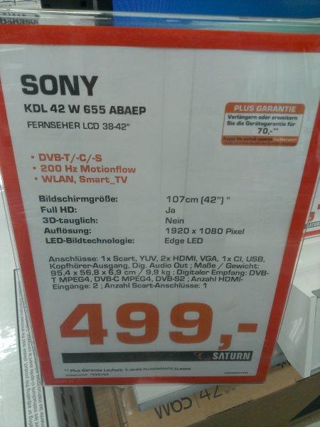 [Lokal Berlin?] Sony KDL 42 W 655 für 499€