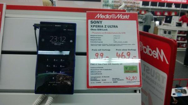 Sony Xperia Z Ultra. Offline bei MM Heidenheim Brenz für 469 ohne Vertrag