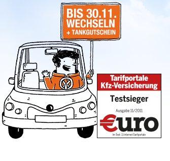 Tankgutschein 50 / 100 € bei GMX für KFZ Versicherungswechsel