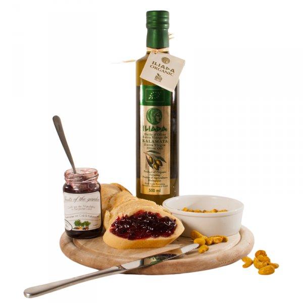DELINERO Geburtstags-Set - Bio Olivenöl, Sauerkirschen-Confit und Cashewkerne