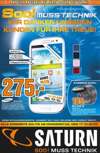 Samsung S3 für 275€ nur diesen Donnerstag 17.10.2013 im Saturn Stuttgart