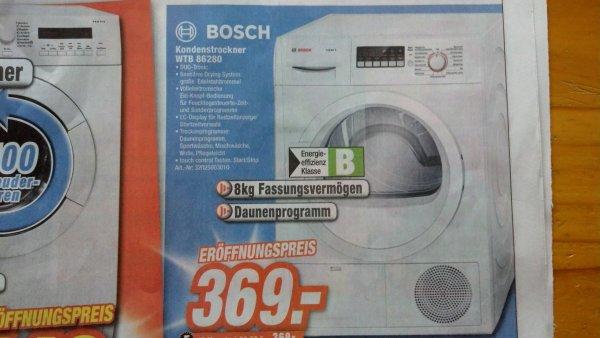 Lokal OWL Bosch Kondenstrockner WTB 86280 für 369€