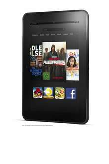 Kindle Fire HD 7 Zoll, 16 GB ab 105,90 €