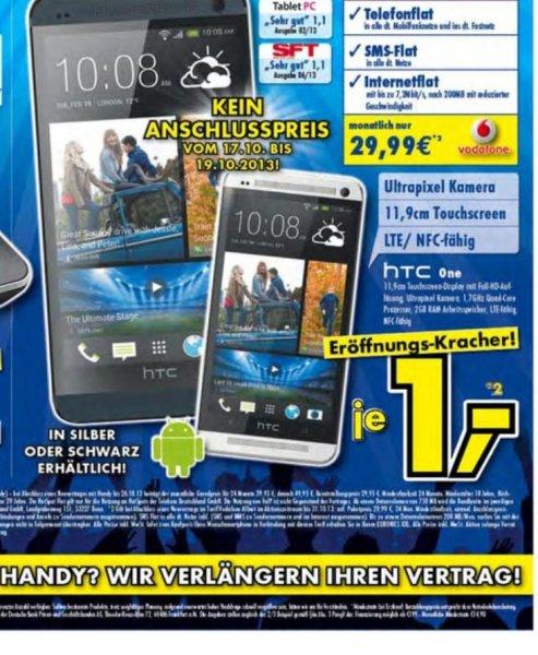 HTC One mit Vodafone Allnet Sub 10 für 29,99€ monatl.