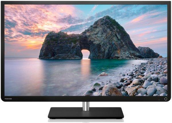 Toshiba 32L4333DG 81 cm (32 Zoll) LED-Backlight-Fernseher, EEK A+ (Full HD, 100Hz AMR, DVB-T/C, CI+, Smart TV) schwarz für 279,00 € @ Amazon.de