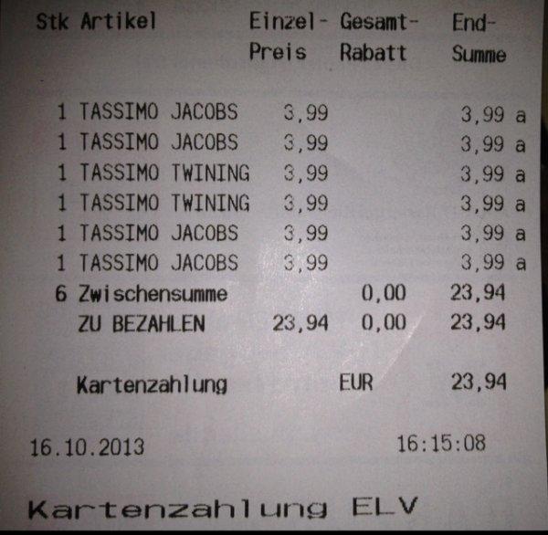 [LOKAL? OFFLINE!] Tassimo T-Disc in Wehr/Baden Müller
