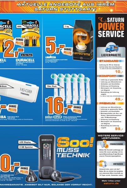 {Lokal Saturn Stuttgart] 10 Oral B Precision Clean 16€