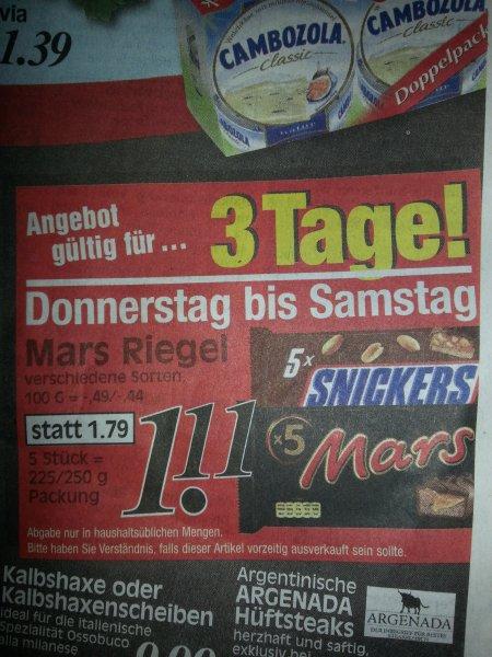Mars Riegel ( verschiedene Sorten)  für 1,11 Euro bei Rewe