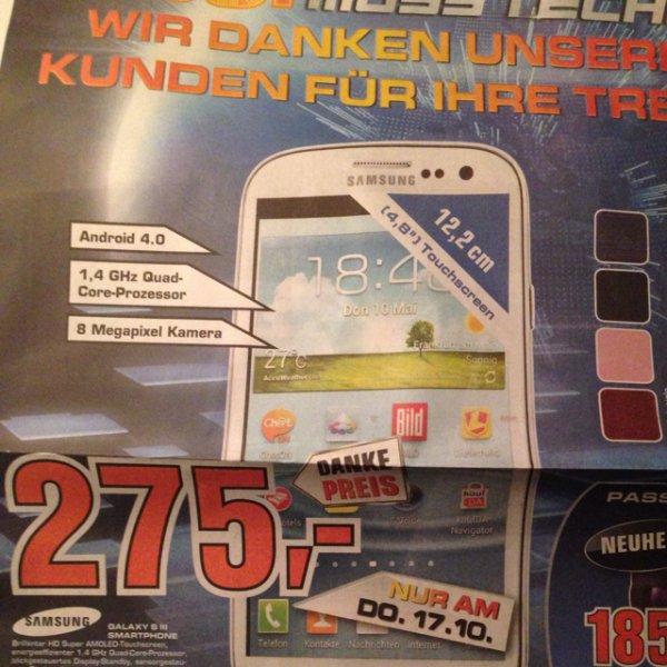 [lokal Saturn Stuttgart] Samsung galaxy S3 alle Farben!