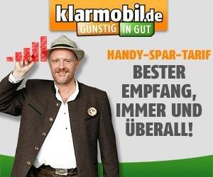 Klarmobil Allnet Flat Tarif + 500 MB Internet Flat 99 Cent / Monat / 4 Monaten