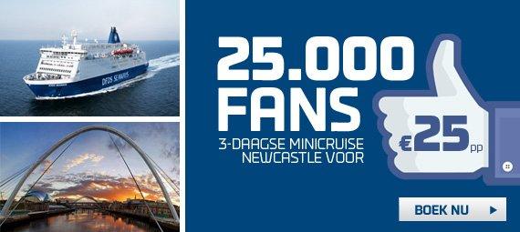 Minikreuzfahrt Amsterdam - Newcastle für 2 Personen 50,- € (25,- € pro Person / Oktober - Dezember)