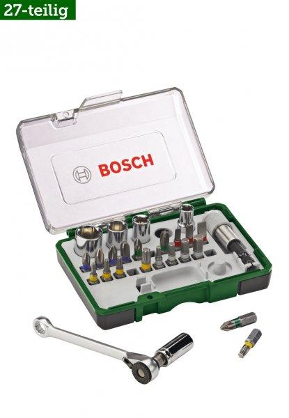 BOSCH  27-tlg. Mini Schrauberbit- und Ratschen-Set für nur 7,80€ inkl. Versand (Idealo: 20€) - Ersparnis: 12€