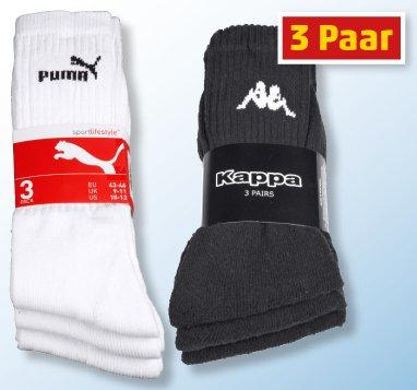 Ab heute im Penny- 3er Pack Puma/Nike/Kappa Marken-Sportsocken