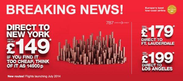 Flüge: New York ab Berlin / Hamburg / Düsseldorf via London in den Sommerferien (!) 446,- € hin und zurück (plus Gepäck) - Los Angeles 557,- € (Juli / August) - Gabelflüge möglich für Oneway Roadtrips