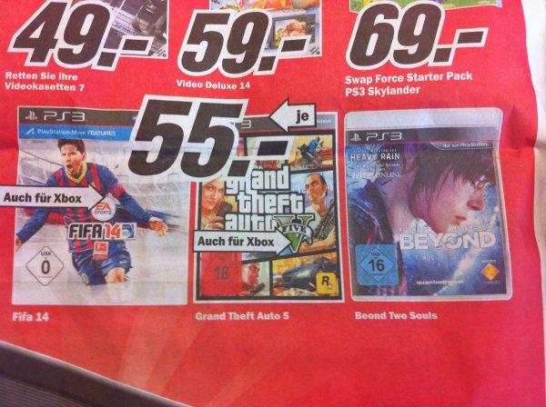 [LOKAL Mainz] Media Markt GTA V und FIFA 14 für PS3 und Xbox360